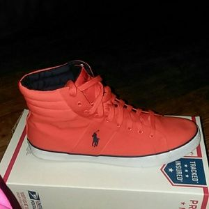 MENS POLO HIGH TOP SNEAKERS BAWTRY 12D